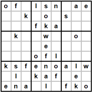Letter Sudoku - Letter BestKitchenView CO